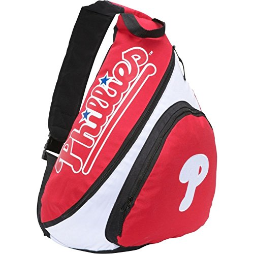 Concept One Accessories MLB Los Angeles Angels Slingback Backpack, 8.5-Inch, Red