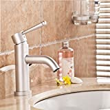 Furesnts Modern home kitchen and Bathroom Sink Taps Space aluminum leadfree Mixer Basin space aluminum Taps hot and cold Basin SINGLE HOLE WASHBasin Mixer Bathroom Sink Taps,(Standard G 1/2 universal hose ports)