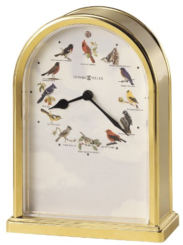 Howard Miller Songbirds of North America III Table Clock 645-405 - Musical Chimes (Bird Chime Clock)