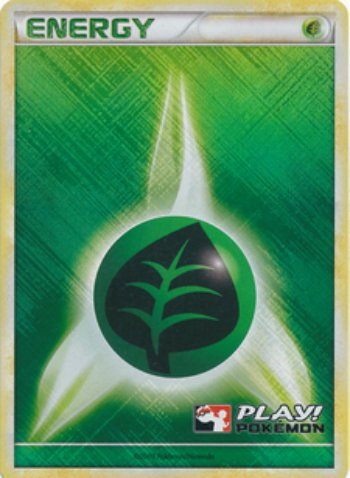 Pokemon - Grass Energy - Holofoil - Play! Pokemon Promo