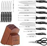 esonmus Kitchen Knife Set, 15-piece Knife Set with