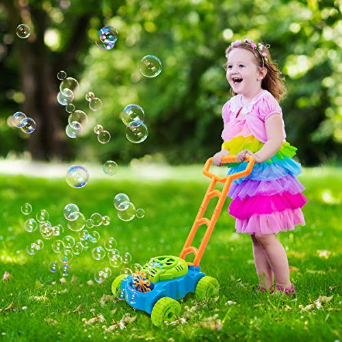Lydaz Bubble Mower, Electric Bubble Machine Lawn Games Outdoor Toys for Kids Toddlers