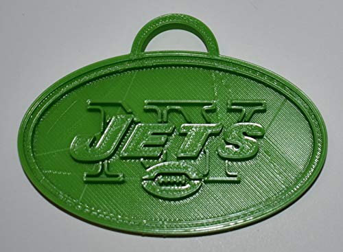 YNGLLC New York Jets NFL Football Logo Hanging Ornament Holiday Christmas Decor 3D Printed Made in USA PR2069