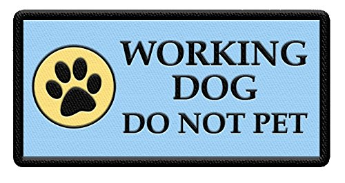 Working Dog Not Patch Print