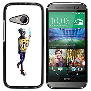 // PHONE CASE GIFT // Duro Estuche protector PC Cáscara Plástico Carcasa Funda Hard Protective Case for HTC ONE MINI 2 / M8 MINI / Mago de la muchacha /