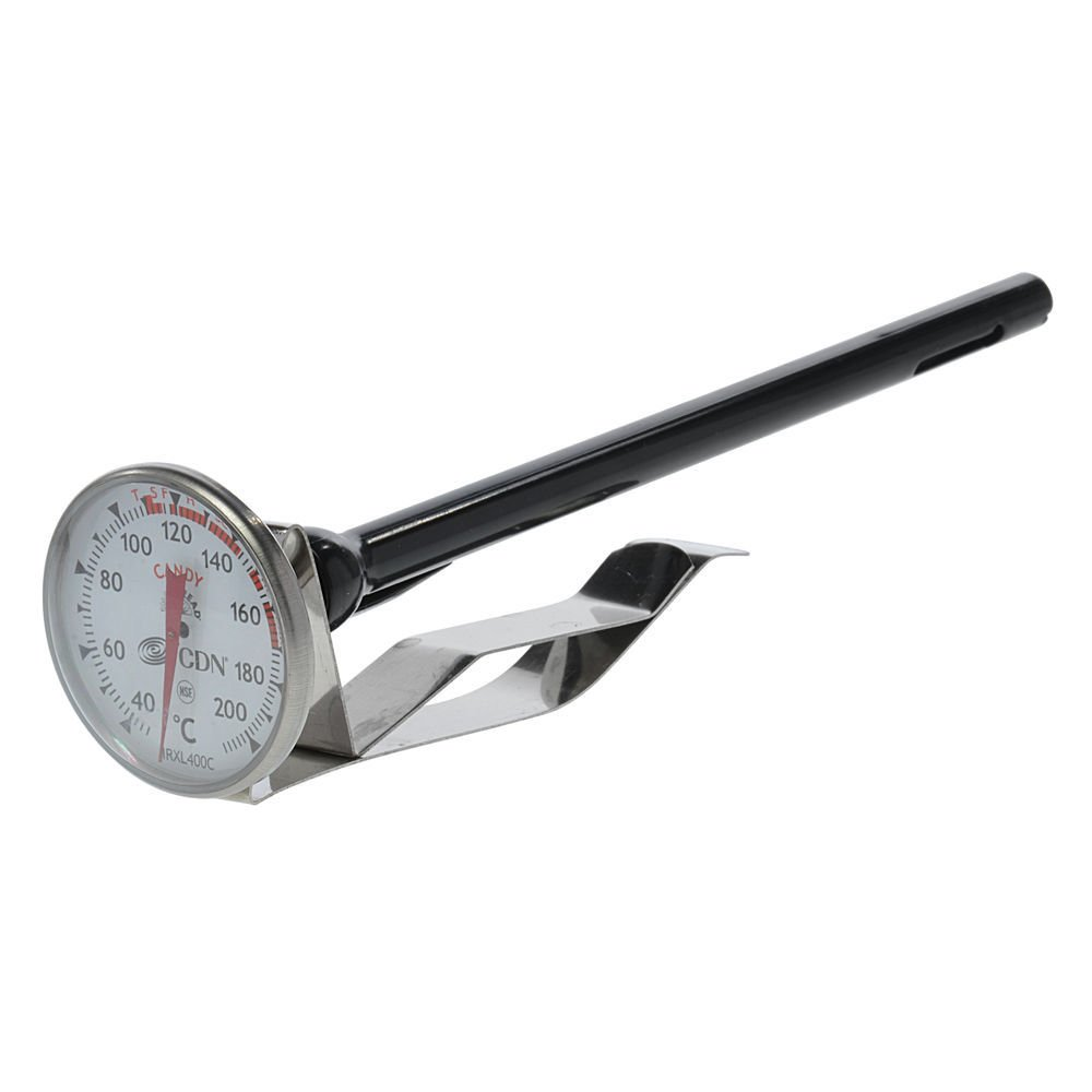 CDN ProAccurate Insta-Read Stainless Steel Celcius Candy and Deep Fry Thermometer - 1 3/4''Dia x 7''L