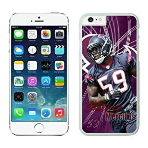 NFL Case Cover For Apple Iphone 6 4.7 Inch Houston Texans Whitney Mercilus White Case Cover For Apple Iphone 6 4.7 Inch Cell Phone Case ONXTWKHB1869