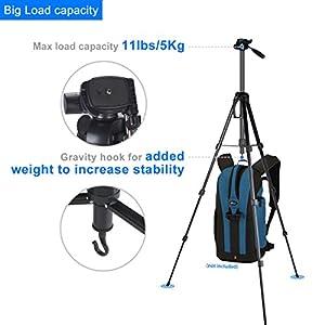 Baaland Camera Tripod, 70 inch Folding Lightweight Aluminum Tripod with Carry Bag for Canon Nikon DSLR SLR