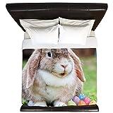 CafePress - Easter Bunny Rabbit - King Duvet Cover, Printed Comforter Cover, Unique Bedding, Microfiber