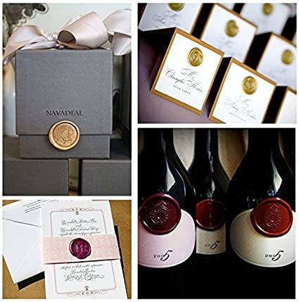 UNIQOOO Initial N Vintage Wax Sealing Stamp Arts Crafts Wine Wedding Invitation Letter