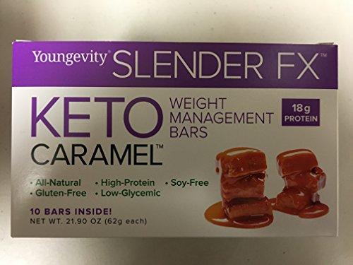 Keto Caramel Weight Management Bars Slender FX 18g Protein