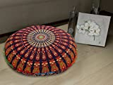 MULTI COR's Hippie Ombre Mandala Tapestry Round Floor Cushion Cover Roundie Wall Hanging Beach Towel Throw Yoga Mat Round Tapestry
