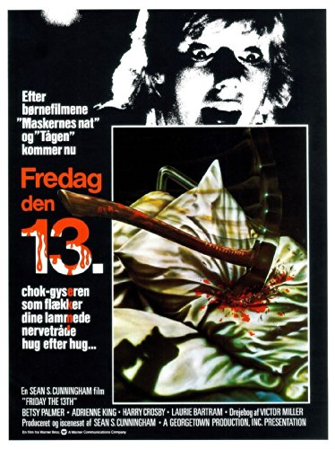 Friday the 13th Denmark Movie Poster  24x36