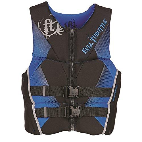 Full Throttle Mens Hinged Rapid-Dry Flex-Back Life Vest, Medium, Blue