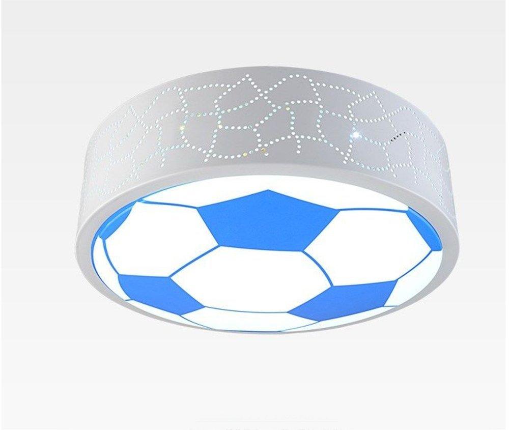 MeloveCc Deckenleuchte Kreativ Kinderzimmer Ledthe Beleuchtung Rund Fußball Lampen die Fernbedienung nicht Polarität Dimmen Durchmesser 50 cm 36 W