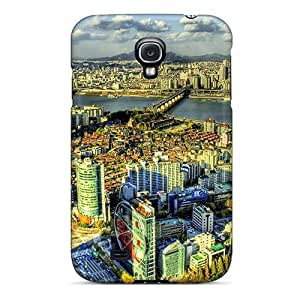 New Design Shatterproof Case For Galaxy S4 (nice High View Of Large City Hdr)