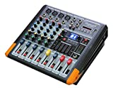 STARAUDIO 4Channel Amplifier Powered Mixer System With Console USB Bluetooth MP3 Player Mixing For PA DJ Stage System,Night Club,Karaoke,KTV,Church,School Play,Professional Show,Wedding Party SMX4000B