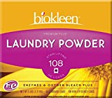 Biokleen Laundry Powder, Premium Plus, 5 lbs - 75 HE Loads/50 Standard Loads (Pack of 8)