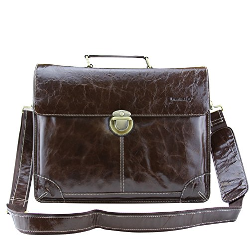 LB1 High Performance New Leather Laptop Bag for Panasonic Toughbook CF-19 Rugged Notebook PC Vintage Genuine Full-grain Leather Laptop Computer Messenger Bag Business Travel Crossbody Case