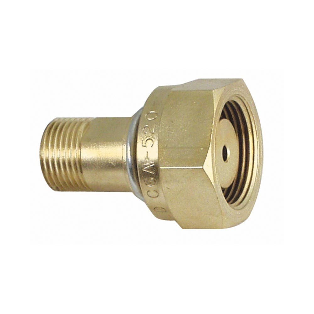 Uniweld F31 Brass Adaptor from CGA520B Tank to CGA200MC Regulator
