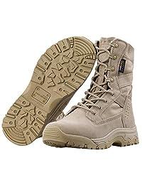 FREE SOLDIER - Botas tácticas para Hombre, 20 cm, Ligeras, de Gamuza, de Piel Resistente, para Trabajo Militar, Botas de Desierto