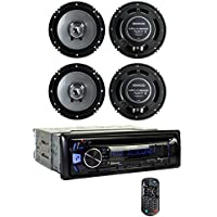 Kenwood KDC-BT362U Bluetooth Smartphone Player Car Stereo + 2) 6.5 Inch Speakers