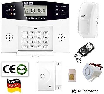 Alarma por radio GSM incluido de tarjeta SIM + sistema de sensor ...