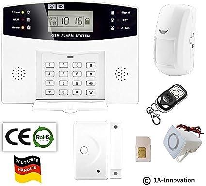Alarma por radio GSM incluido de tarjeta SIM + sistema de sensor de movimiento + puerta