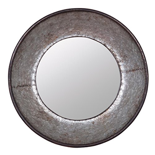 Foreside Home & Garden Foreside Galvanized Round Mirror from Foreside Home and Garden