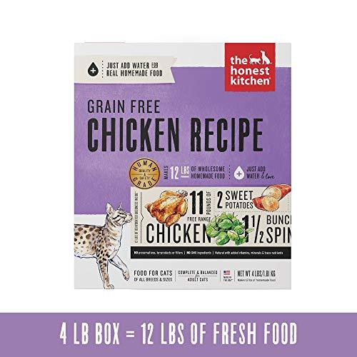 Honest Kitchen Grain Free Chicken Cat Food Recipe 4 lb Box - Prowl (Recipe Box Chicken)