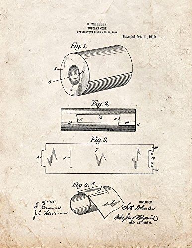Tubular Core Toilet Paper Roll Patent Print Old Look (8.5' x 11') M12312
