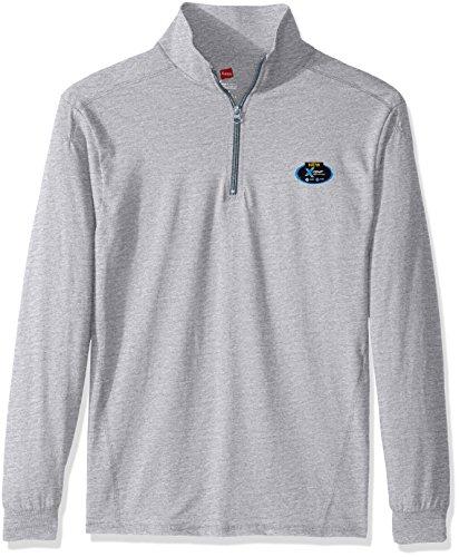Hanes Men's Long Sleeve 1/4 Zip Pullover, Light Steel, - Long Pullover Sleeve Mens