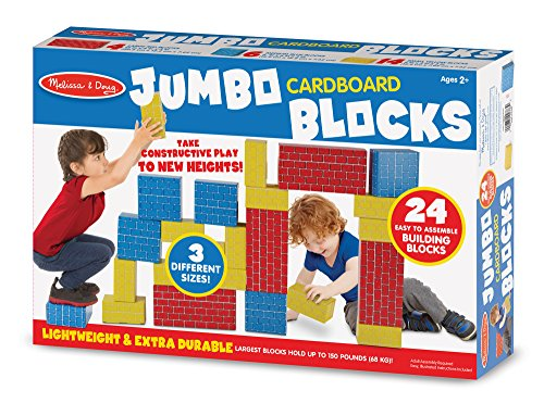 Melissa & Doug Extra-Thick Cardboard Building Blocks - 24 Blocks in 3 Sizes by Melissa & Doug (Image #3)