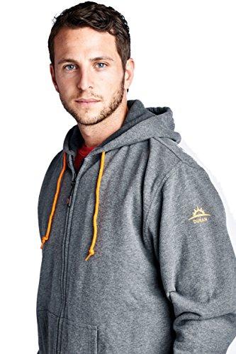 Duran 5V/2A Hooded Heated Jacket: Performance Full-Zip Hooded Fleece Sweatshirt (hoodie) - Holiday Gift, XX-Large