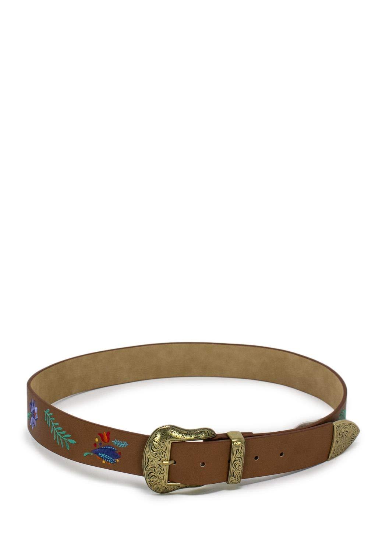 Desigual Women's 19SARP05BROWN Brown Faux Leather Belt