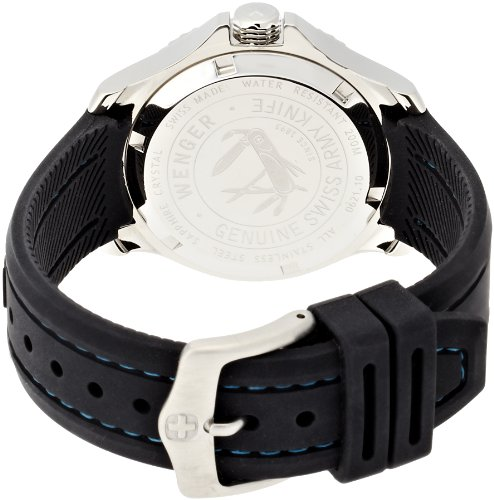 Wenger Sea Force Quartz Movement Black Dial Ladies Watch 10621102