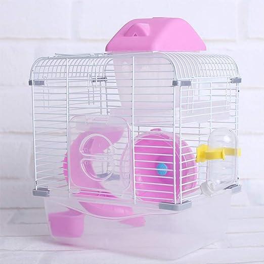 BeesClover - Jaula de Cristal para Mascotas, hámster de Doble Capa ...