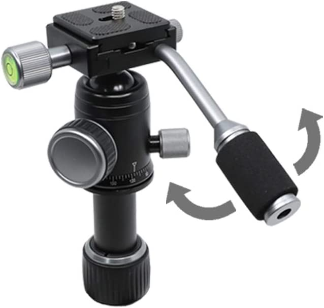Pan Bar Included//Lightweight Heavy Duty Aluminum Camera Mount Portable Tripod Stand with Non Skid Feet//Compatible with iPhone, Android Phone, DSLR for YouTube Video by ORANGEMONKIE TRIPOD50V
