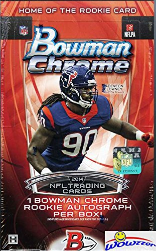 2014 Bowman Chrome NFL Football HUGE Factory Sealed HOBBY Box with ROOKIE AUTOGRAPH & 18 Packs! Look for ROOKIE Cards & AUTOGRAPHS of Derek Carr, Odell Beckham Jr, Jimmy Garoppolo & More! Wowzzer!