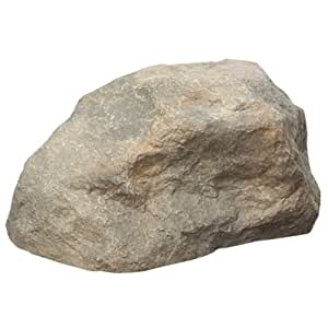 Small faux hollow rock approximately 17 x for Decorative outdoor rocks