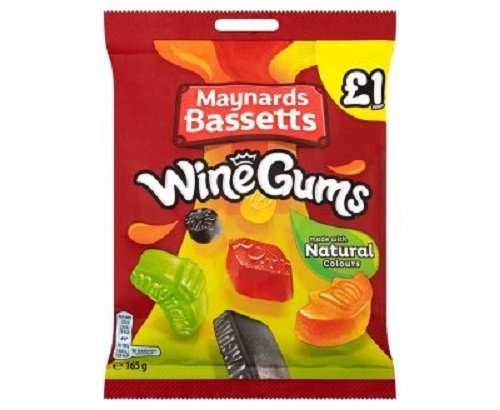 Maynards Bassetts Wine Gums £1 Sweets Bag (Gum Gummies)