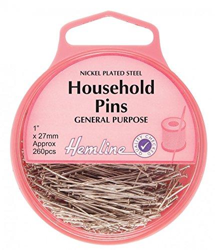 Hemline Household Steel Sewing/Dressmaking Pins - 26mm