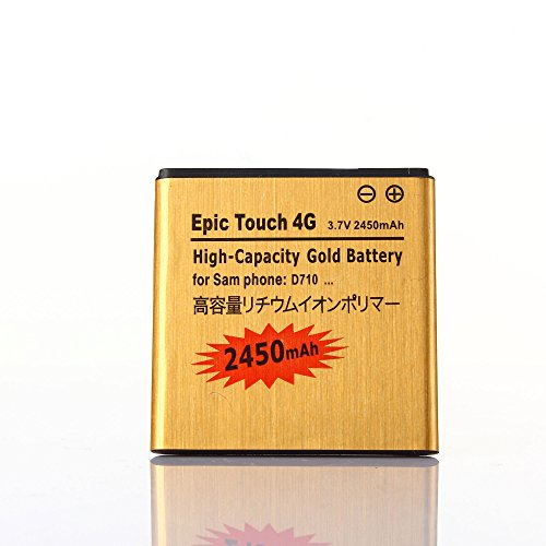 Gold Extended Samsung Galaxy S II Epic 4G Touch SPH-D710 High Capacity Battery EB625152VA For Samsung Galaxy S II Epic 4G Touch SPH-D710 / Samsung Galaxy S II Epic 4G Touch SCH-R760 / Samsung Galaxy S2 Epic 4G Touch SPH-D710 / Samsung Galaxy S2 Epic 4G Touch SCH-R760 2450 mAh