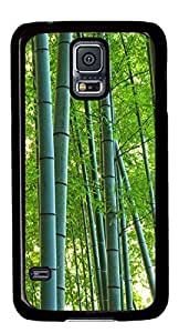 Bamboo Forest DIY Hard Shell Black Special For Samsung Galaxy S5 I9600 Case