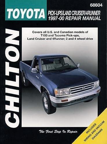 chilton s toyota pick ups land cruiser 4runner 1997 00 repair manual rh amazon com