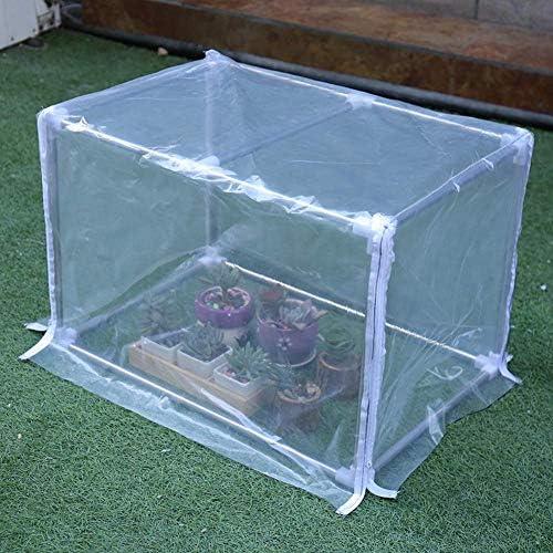 園芸温室バルコニー植物栽培透明PVC、ローリングドアジッパー、防雨、組み立てが簡単