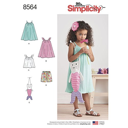 Simplicity Creative Patterns US8564A Dress, Top, Shorts and Bag, A (3-4-5-6-7-8)