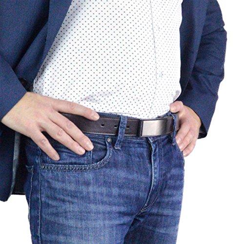Cruelty Free Dress Belts for Men, Genuine Non Leather Belt (Truth Tilikum) (36, Brown)