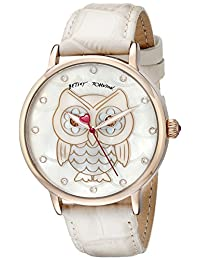 Betsey Johnson Women's BJ00496-14 Analog Display Quartz Beige Watch