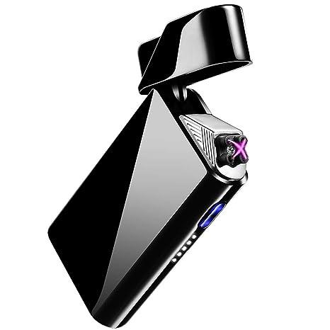 AngLink Encendedor Electrico, USB Encendedor de Doble Arco Recargable con Indicación de Batería, ARC